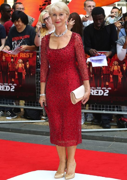 Helen Mirren at the London Premiere of Red 2