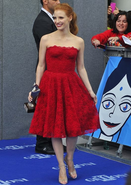 Jessica Chastain at the 2013 Giffoni Film Festival