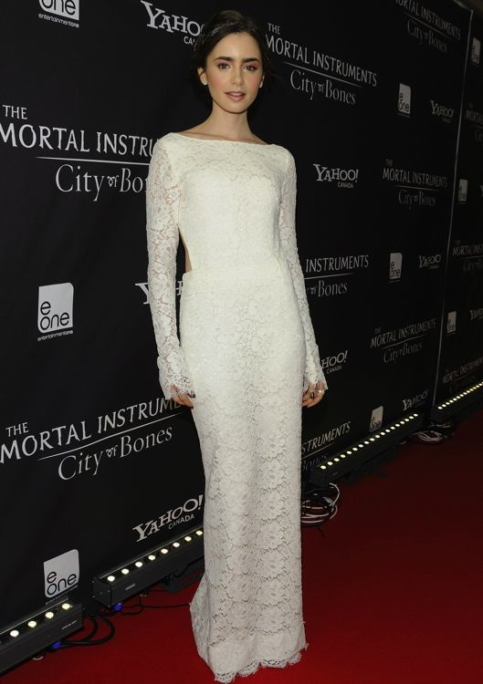 Lily Collins at the Toronto Premiere of The Mortal Instruments: City of Bones