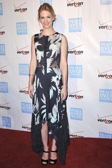 January Jones at the 41st Annual Peace Over Violence Humanitarian Awards