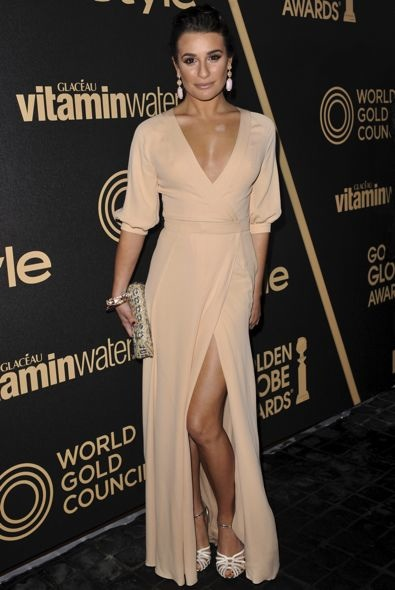 Lea Michele at the 2013 Golden Globe Awards Season Celebration