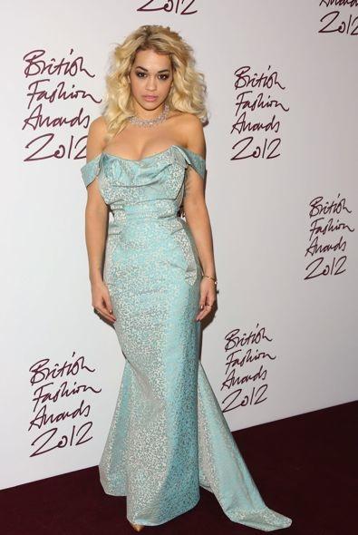 Rita Ora at the 2012 British Fashion Awards