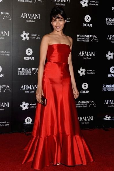 Freida Pinto at the Dubai Cares and Oxfam One Night to Change Lives Charity Gala