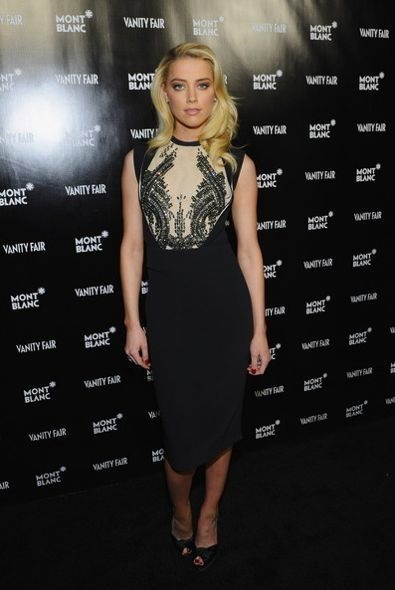 Amber Heard at the Vanity Fair Montblanc Party