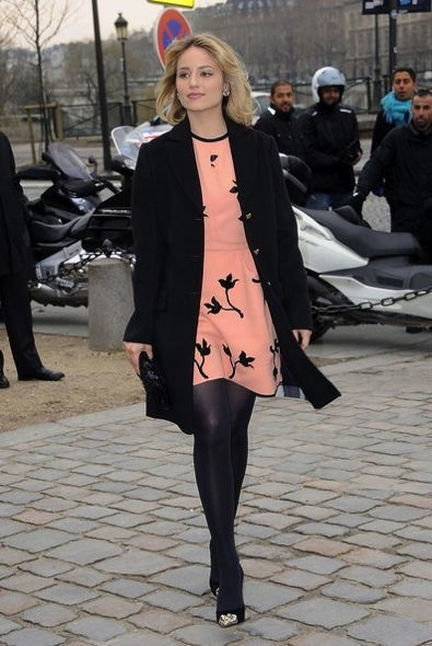 Dianna Agron at the Louis Vuitton Fall 2012 Show