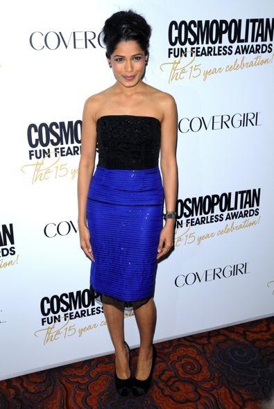 Freida Pinto at Cosmopolitan