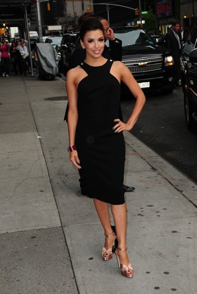 Eva Longoria at the Late Show with David Letterman