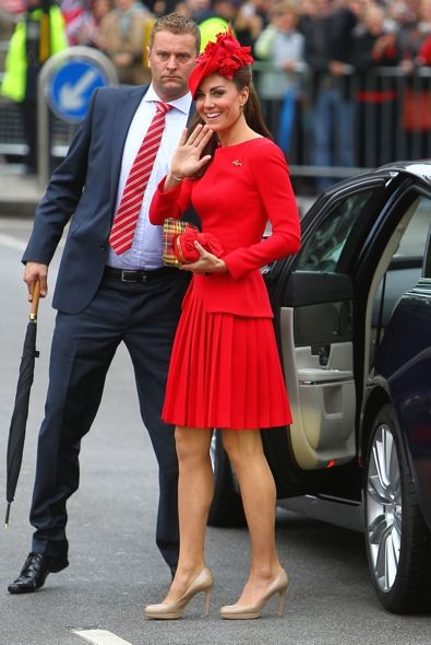 Catherine, Duchess of Cambridge at the Thames Diamond Jubilee Pageant