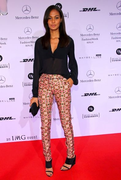 Joan Smalls at the Rena Lange Show During Mercedes-Benz Fashion Week Berlin Spring/Summer 2013