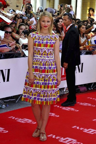 Dianna Agron at the 2012 Giffoni Film Festival