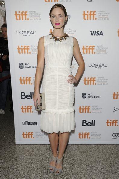 Emily Blunt at the 2012 Toronto International Film Festival Premiere of Arthur Newman