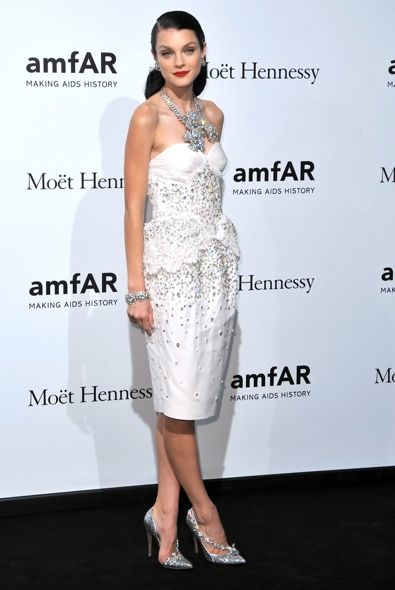 Jessica Stam at the amfAR Milano 2012 Gala