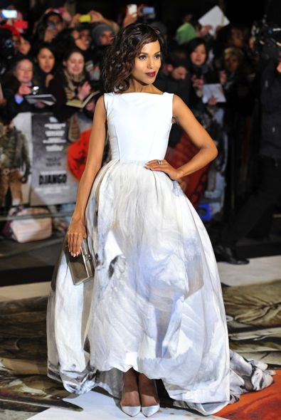 Kerry Washington at the London Premiere of Django Unchained