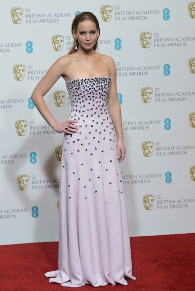 Jennifer Lawrence at the 2013 BAFTA Awards