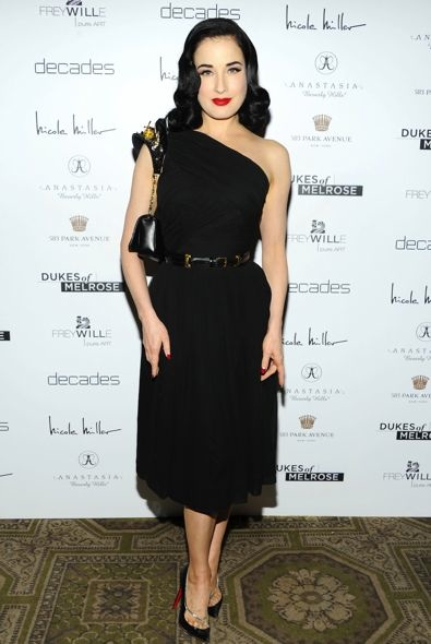 Dita Von Teese at the New York Premiere of Dukes of Melrose