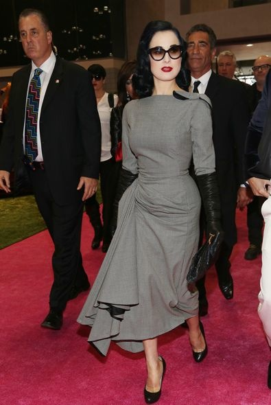 Dita Von Teese at the International Beauty Show
