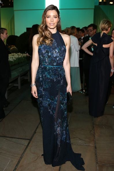 Jessica Biel at the Tiffany & Co. Blue Book Ball