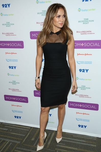 Jennifer Lopez at the United Nations Foundation Mom + Social Event