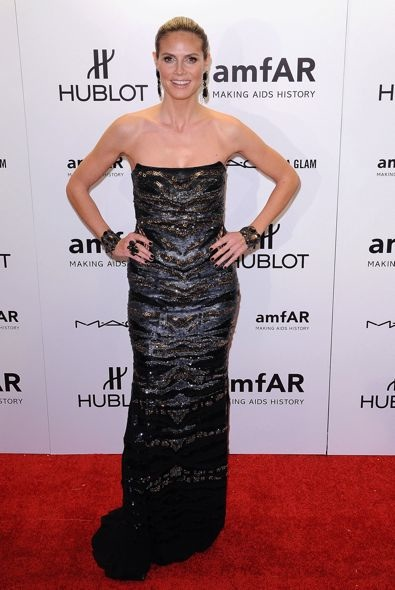 Heidi Klum at the 2012 amfAR New York Gala