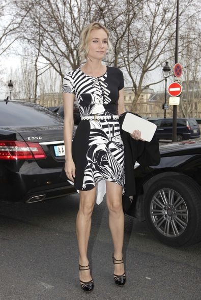 Diane Kruger at the Atelier Versace Haute Couture Spring 2012 Fashion Show