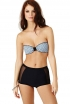 5. Buy a high-waisted bikini with modern touches.