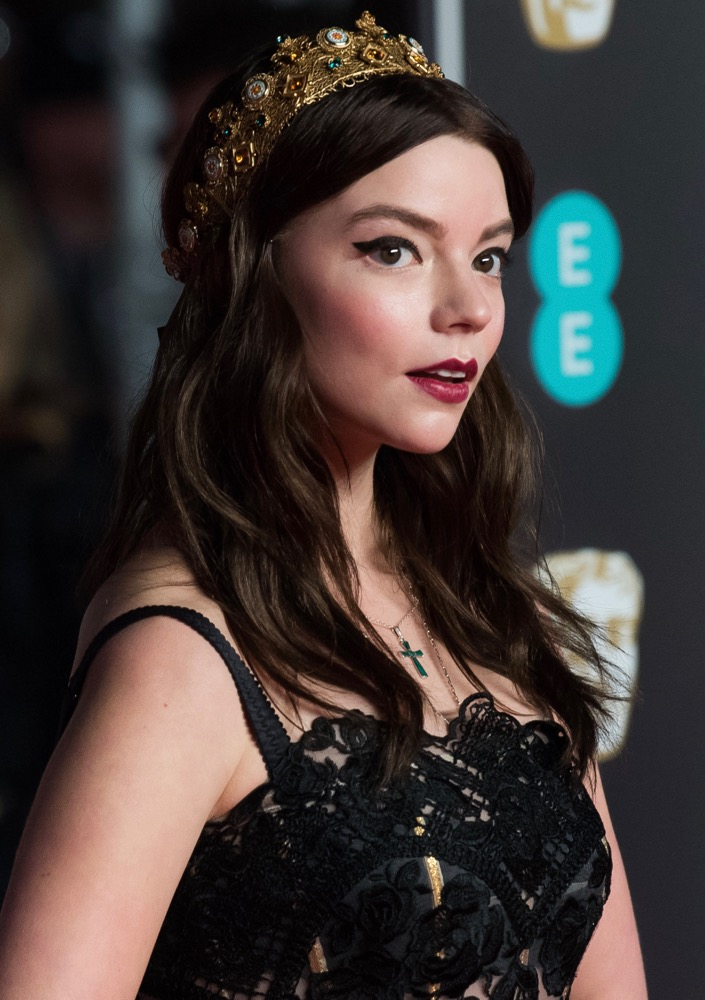 Anya Taylor-Joy  Here's How Celebs Are Wearing the Runway's Glitzy Hair Accessories Trend on the Red Carpet bling hairstyles anya taylor joy baftas