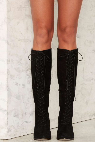 Narrow Calf Over The Knee Boots - Yu Boots