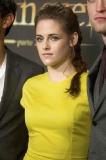 Kristen Stewart's Messy French Braid