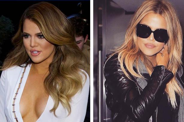 Khloé Kardashian Lightens Up