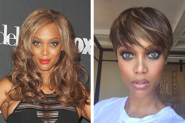 Tyra Swaps Her Long Locks for a Pixie