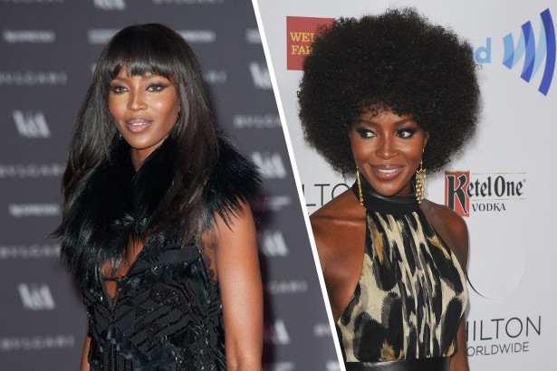 Naomi Campbell's Instant Fro