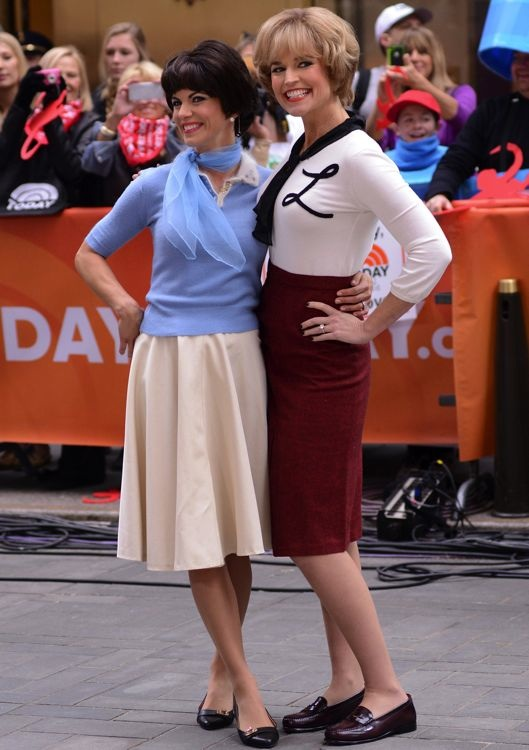 Natalie Morales and Savannah Guthrie Filming The Today Show Halloween Episode