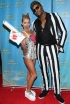 Kelly Ripa and Michael Strahan at the LIVE with Kelly and Michael Halloween Episode Taping