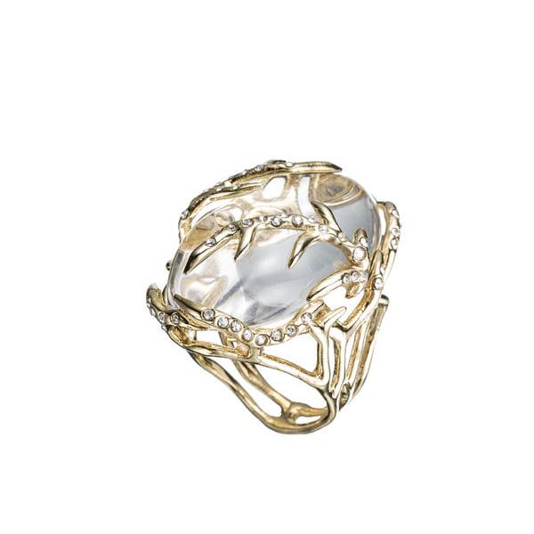 Ophelia Gold Clear Vine Encased Ring