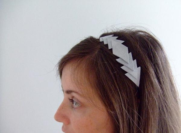 Geometric Leather Headband
