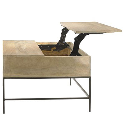 Rustic Storage Coffee Table by West Elm