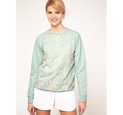 ASOS Sweatshirt with Ornate Puff Print