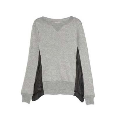 CLU Satin-Trimmed Cotton-Blend Sweatshirt