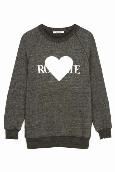 Rodarte Rohearte Text Sweatshirt