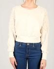 Chiffon Rose Detail Sweatshirt