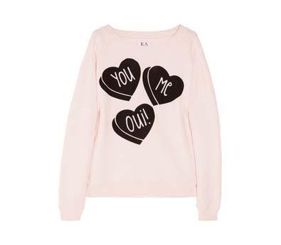 Zoe Karssen You, Me, Oui Cotton-Blend Sweatshirt