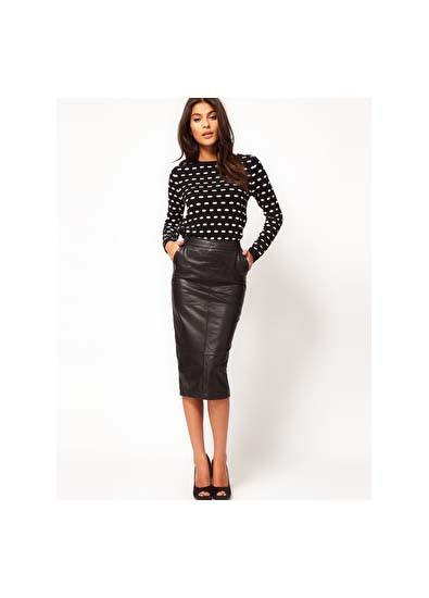Make It Yours: 11 Ways to Wear the New Leather Skirt - theFashionSpot