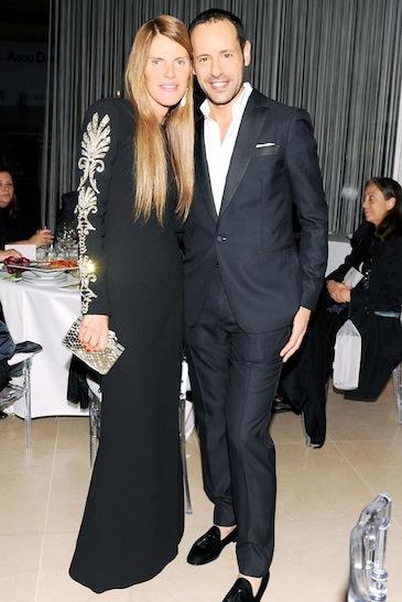 Anna Dello Russo and Massimiliano Giornetti