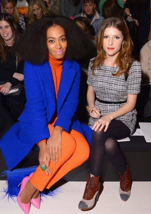Solange Knowles and Anna Kendrick