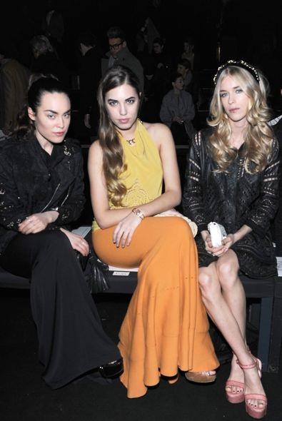 Tallulah Harlech, Amber Le Bon and Mary Charteris