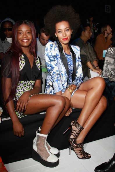 Azealia Banks and Solange Knowles