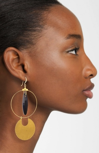 Art Deco Hoops