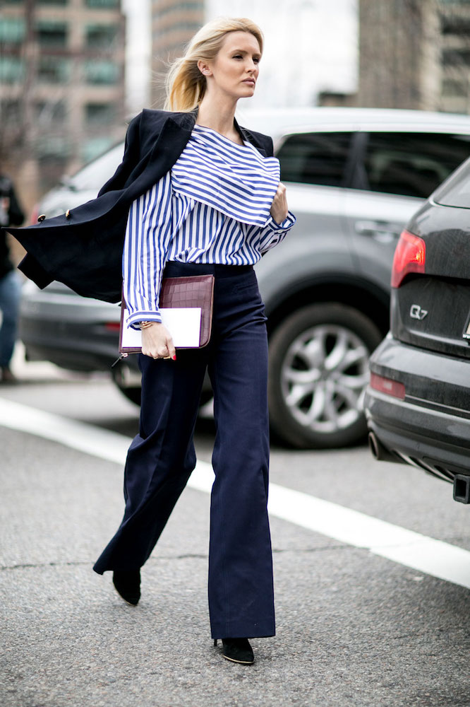 Image result for wide leg pants street style 2017