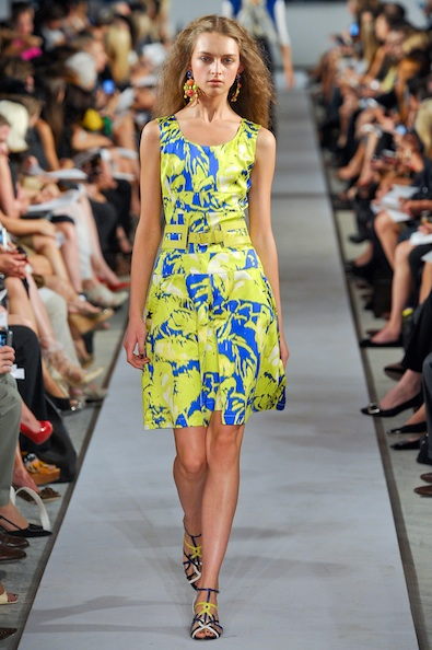 Oscar De La Renta's Patterned Dress