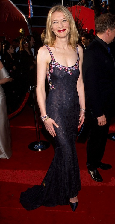 1. Cate Blanchett at the 1999 Oscars in John Galliano